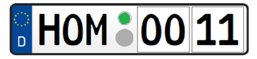 Wunschkennzeichen Homburg